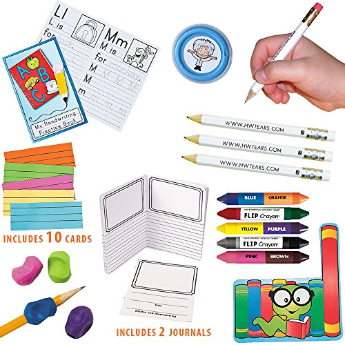 Learn to Write Fun Kit: Daily Handwriting Practice, Tools to Build Fine Motor Skills; 15 Piece Set