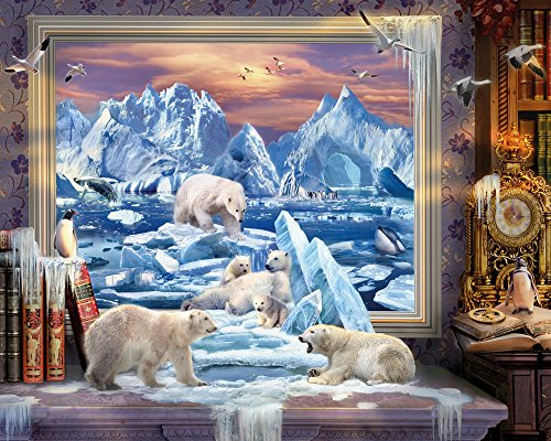 Vermont Christmas Company Arctic Coming to Life Jigsaw Puzzle 1000 Piece