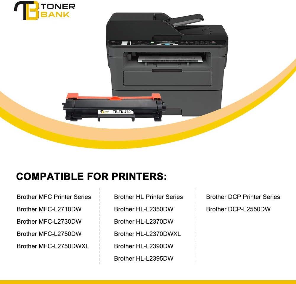 TN730 TN760 Toner Cartridge Lot for Brother HL-L2350DW HL-L2370DW MFC-L2710DW
