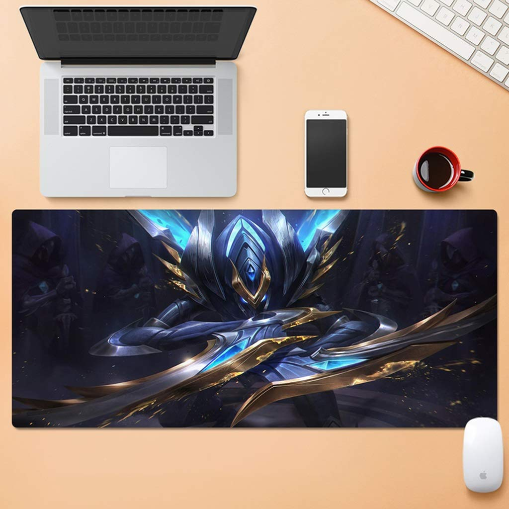 QYLOZ Large Wear-Resistant Esports Gaming Extension Computer Keyboard Mouse Pad Waterproof Desk Mat Locking Edge Non-Slip Rubber Base 30x80cm (Color : C, Size : 4mm) by QYLOZ