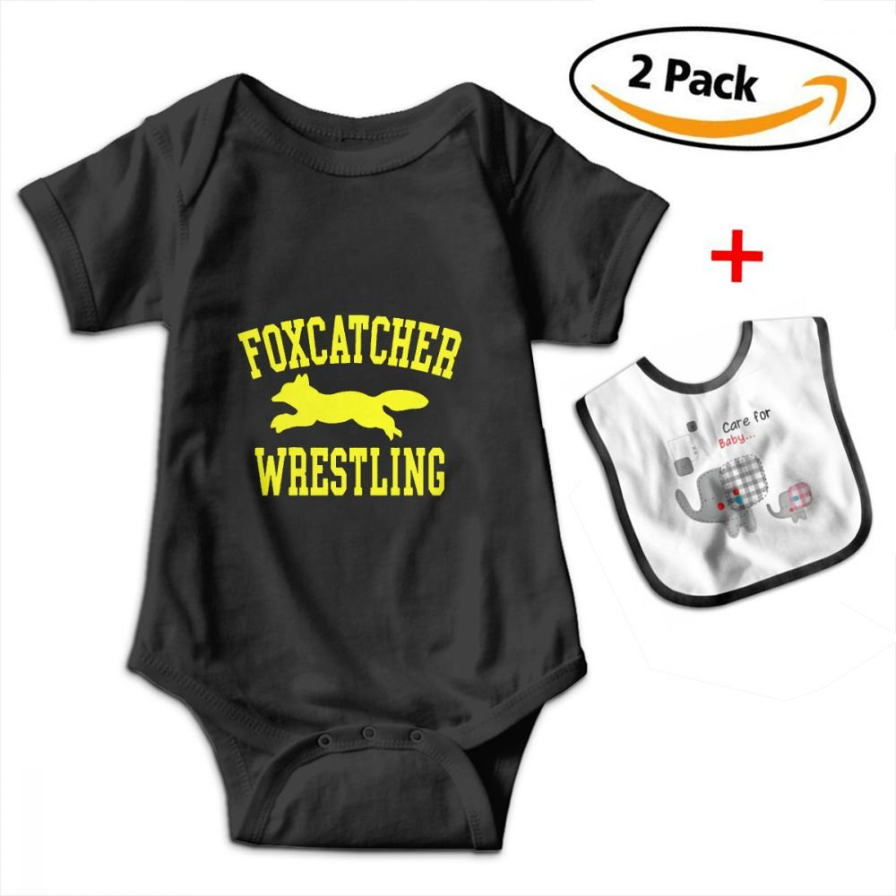 Baby Bodysuits Wrestling Sports Unisex Infant and Toddler Bodysuits Included Affinity for Baby Skin Bibs 0-3M Black