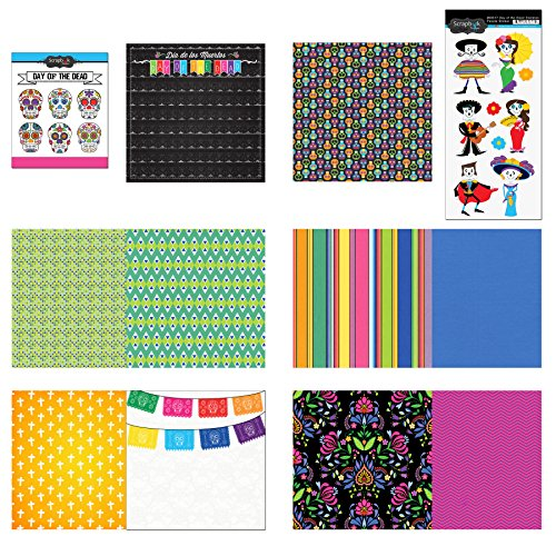 Scrapbook Customs Themed Paper & Stickers Scrapbook Kit, Day of The Dead
