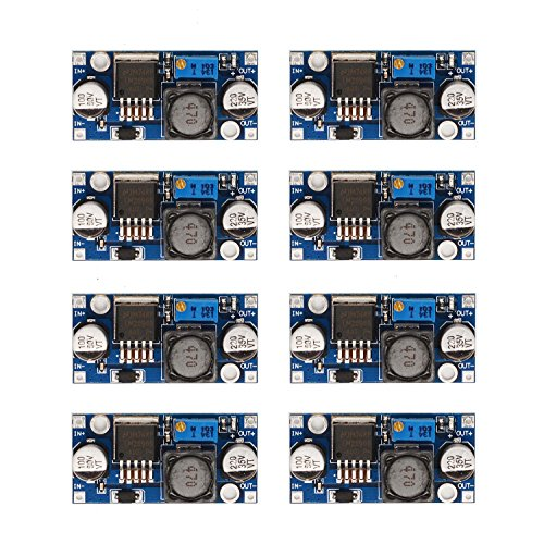 [8-PACK] LM2596 DC-DC Adjustable Buck Converter 3-40 V to 1.5-35v Step Down Power Supply High Efficiency Voltage Regulator Module ... ()