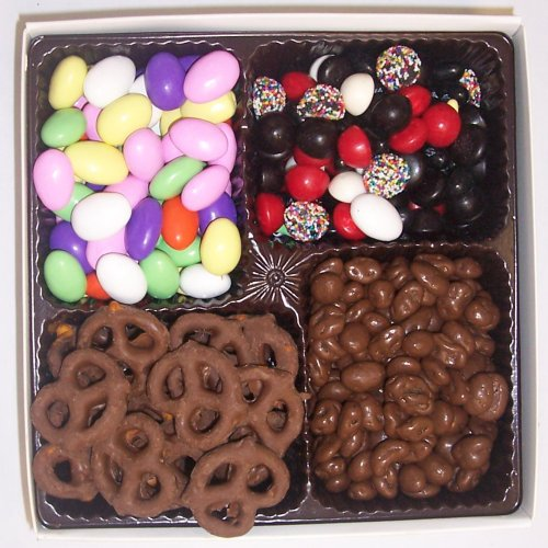 Scott's Cakes Large 4-Pack Jordan Almonds, Chocolate Pretzels, Licorice Mix, & Chocolate Raisins