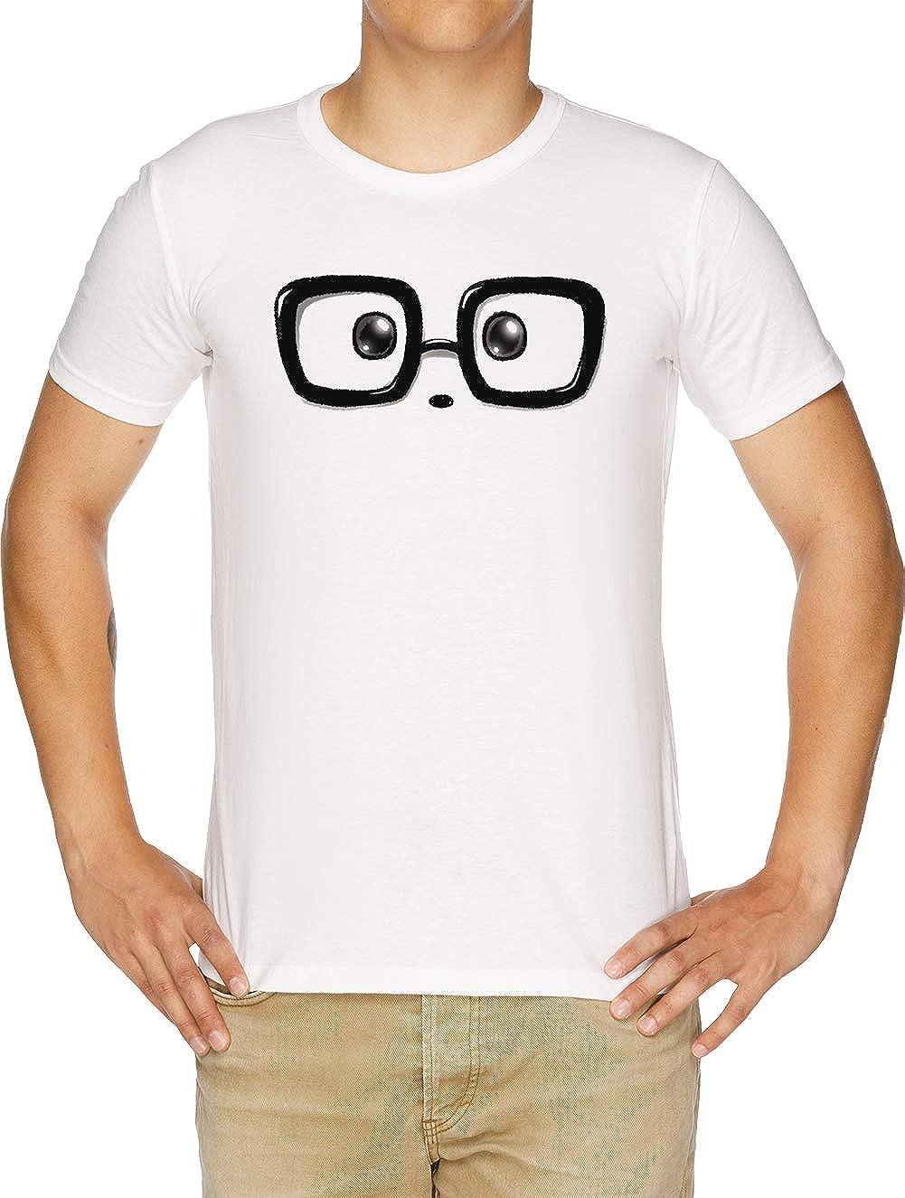 Friki Elegante Panda Ojos Camiseta Hombre Blanco: Amazon.es: Ropa ...