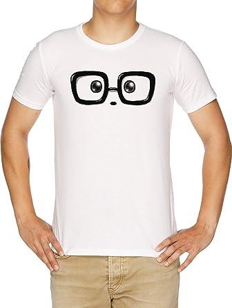 Friki Elegante Panda Ojos Camiseta Hombre Blanco: Amazon.es: Ropa y accesorios