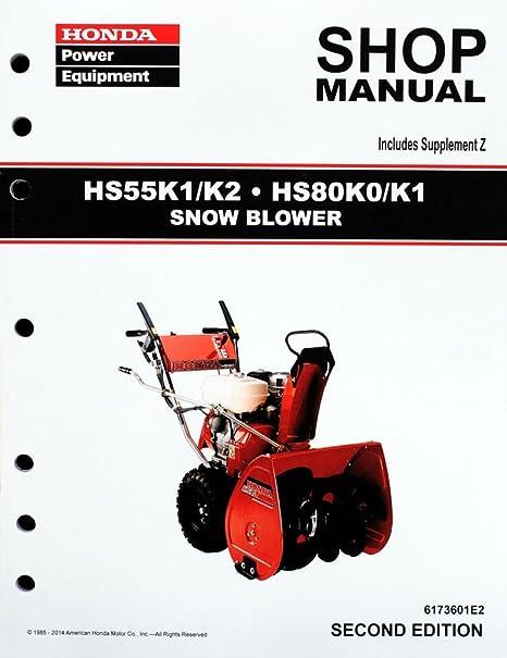 amazon com honda hs55 hs80 snow blow service repair shop manual honda hs55 hs80 snow blow service repair shop manual