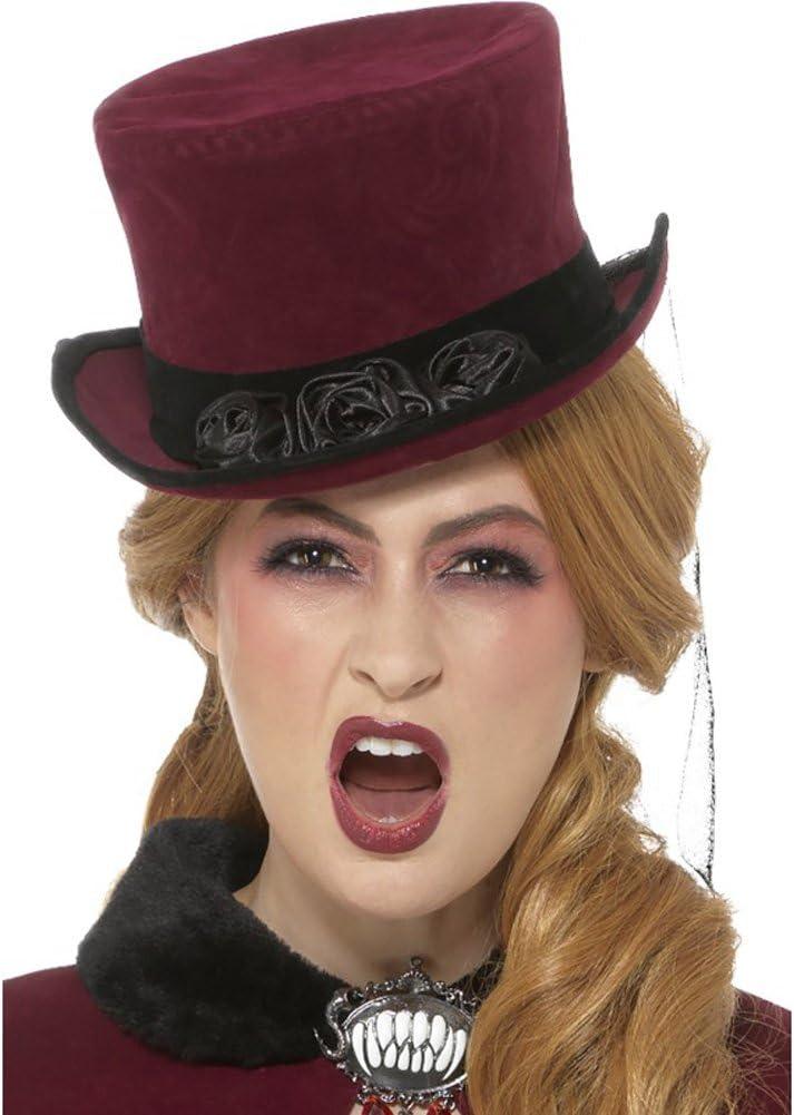 Deluxe Donna vittoriana Top Hat Velo Costume Adulti Da Donna Accessorio Costume