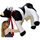 American Made Giant Stuffed Cow 3 and a Half Feet Long Big Plush Farm Animal Soft 42 Inches Long Made in the USA America