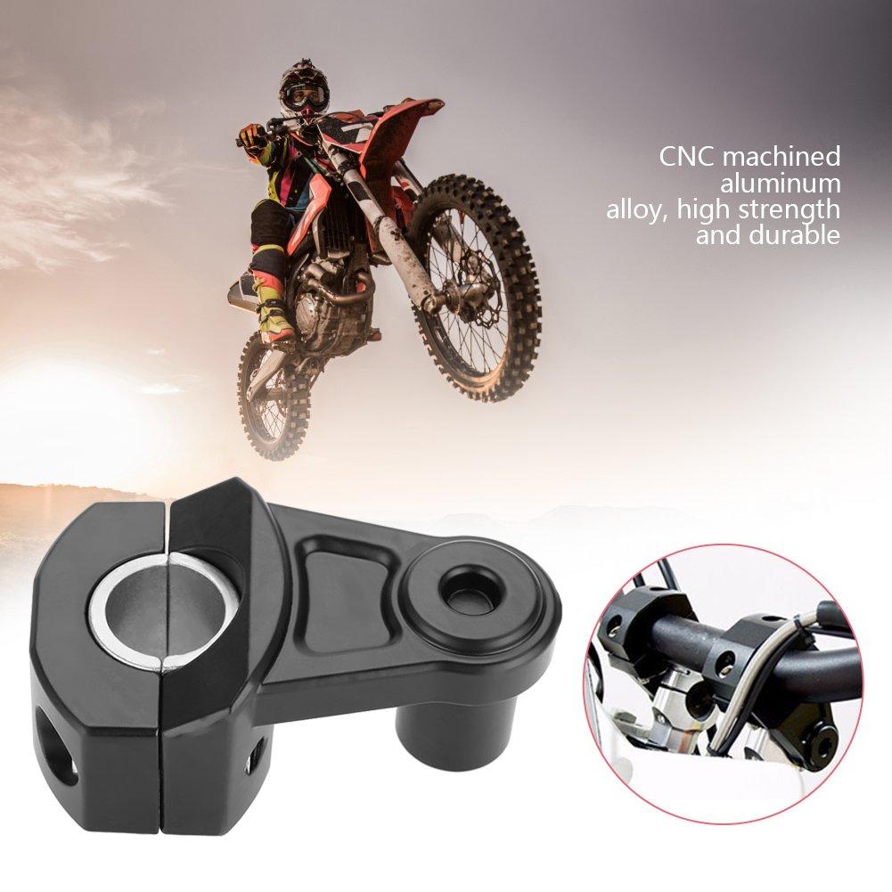 Noir Duokon 12mm ou 28mm Risers de Guidon de Moto,Universal Moto Mount Clamps Guidons Rampes,Brides de Guidon Riser