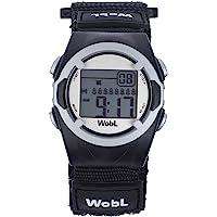 WobL (Black) Vibrating Reminder Watch | 8 Alarm
