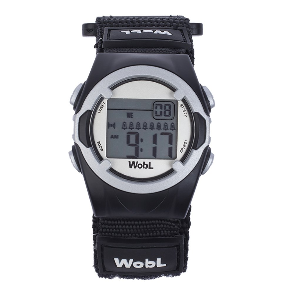 WobL (Black) Vibrating Reminder Watch   8 Alarm by WobL