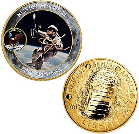 Volwco Apollo - Moneda conmemorativa del 50 aniversario con ...