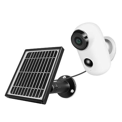 Amazon.com: Cámara de vigilancia + panel solar, cámara web ...