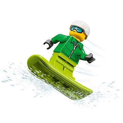LEGO City Minifigure - Snowboarder (with Goggles and Snowboard) 60179: Toys & Games