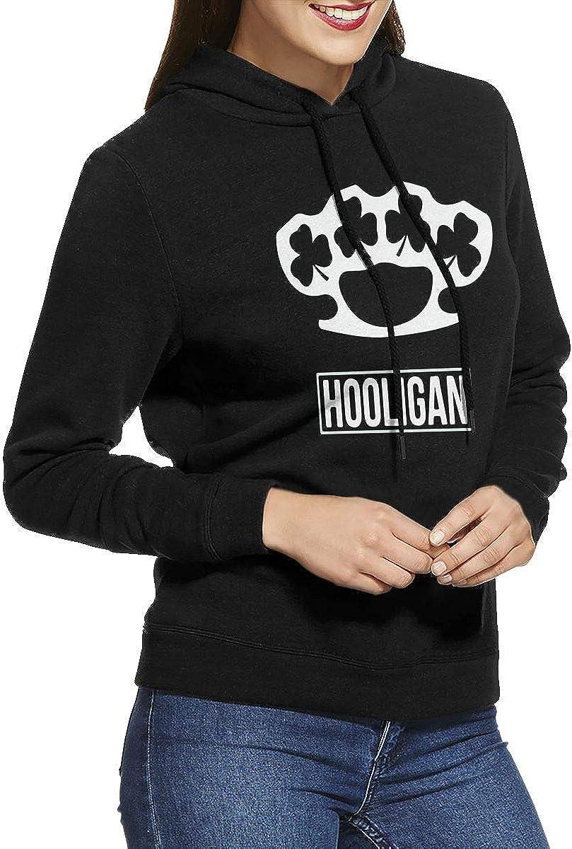 NVWEIYIJW Irish Hooligan 1 Pullover Hoodie Ladies Long Sleeve Tops Hooded Sweatshirts
