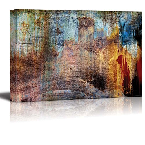 Abstract Splatter Color with Rusty Texture Wall Decor ation