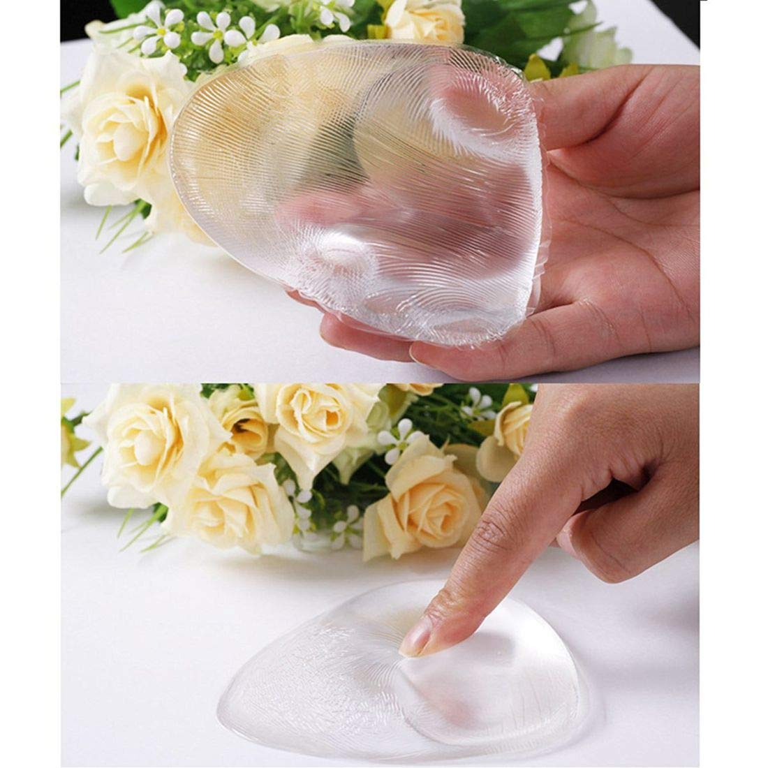 CRE-BILITY Clear Silicone Bra Inserts Gel Breast Inserts Enhancers Waterproof Push Up Pads Bra
