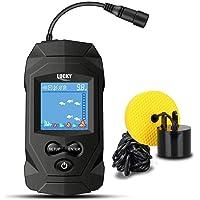 LUCKY Portátil Sonar Buscador de Pesca con Cable Profundidad Buscador de Pescado Sonar Sensor Buscador de Peces LCD…