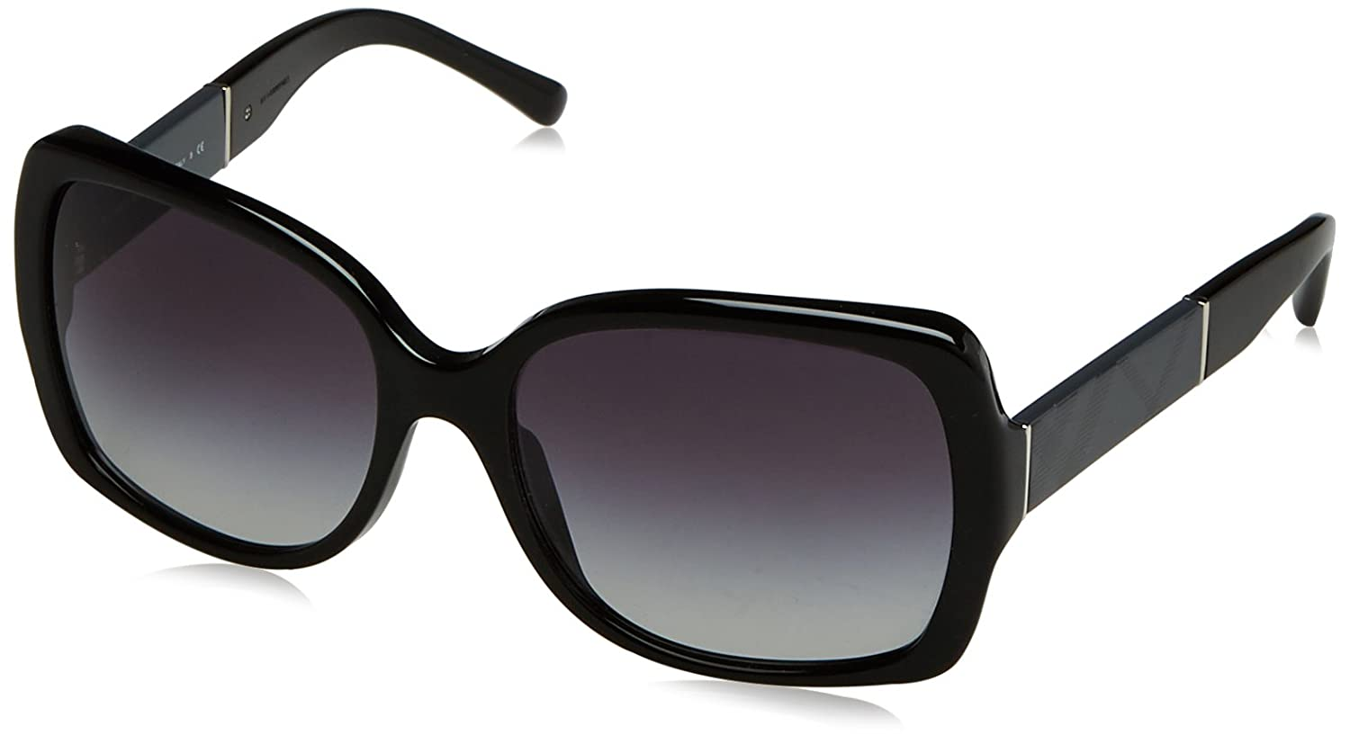 ec113ccadc0 Amazon.com  Burberry Women s BE4160 Sunglasses Black Gray Gradient 58mm   Burberry  Shoes