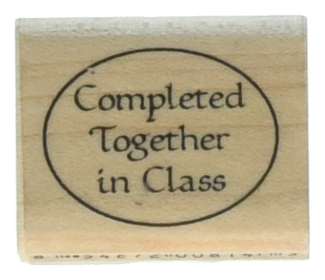 Stamps by Impression ST 0296 Completed Together in Class Teacher Rubber Stamp