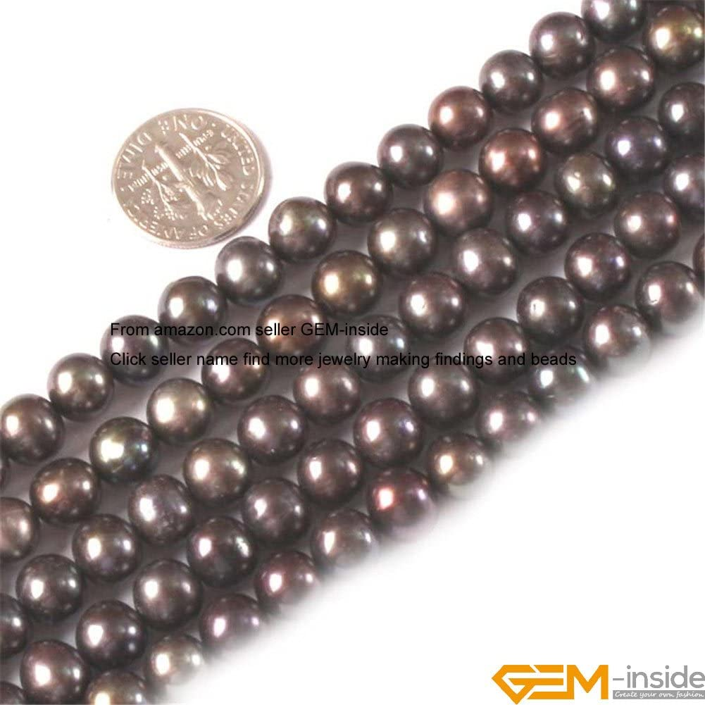 5-7mm Silver Grey Freshwater Cultured Pearl Round Oval Potato Freeform Beads