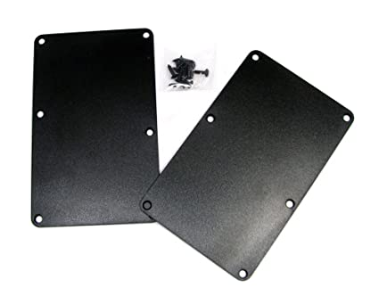 Amazoncom 2pc Black Plastic Electric Guitar Cover Plates With