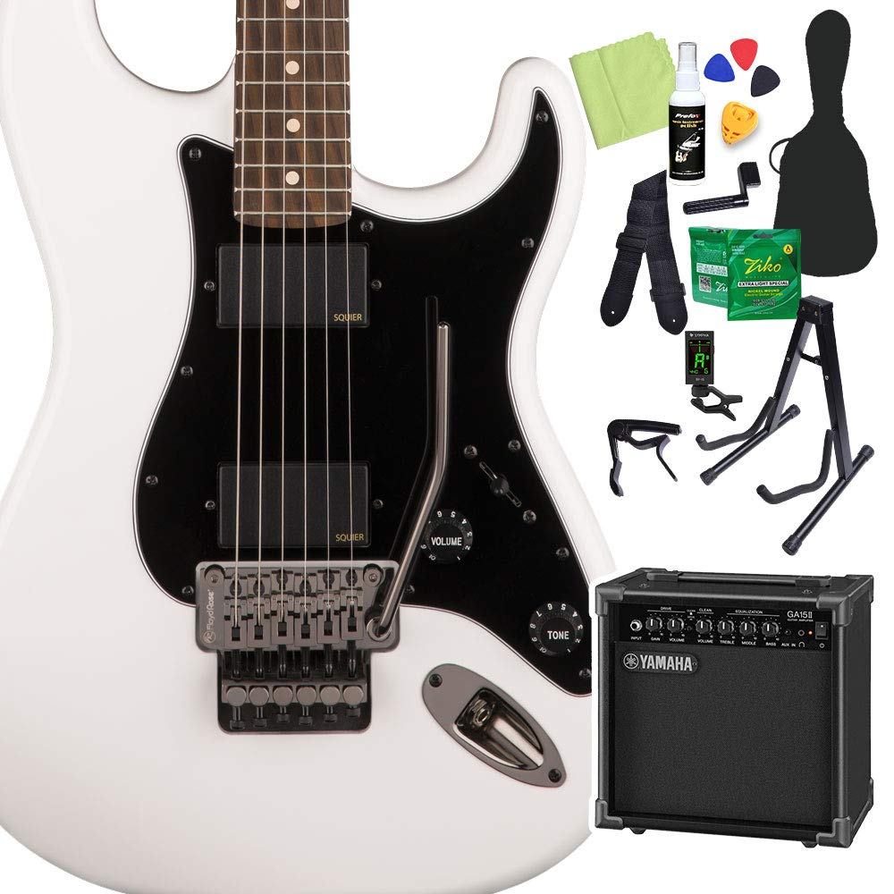 Squier by Fender Contemporary Active Stratocaster HH, Olympic White 初心者14点セット ヤマハアンプ付 エレキギター ストラト スクワイヤー   B07RB9PMKQ