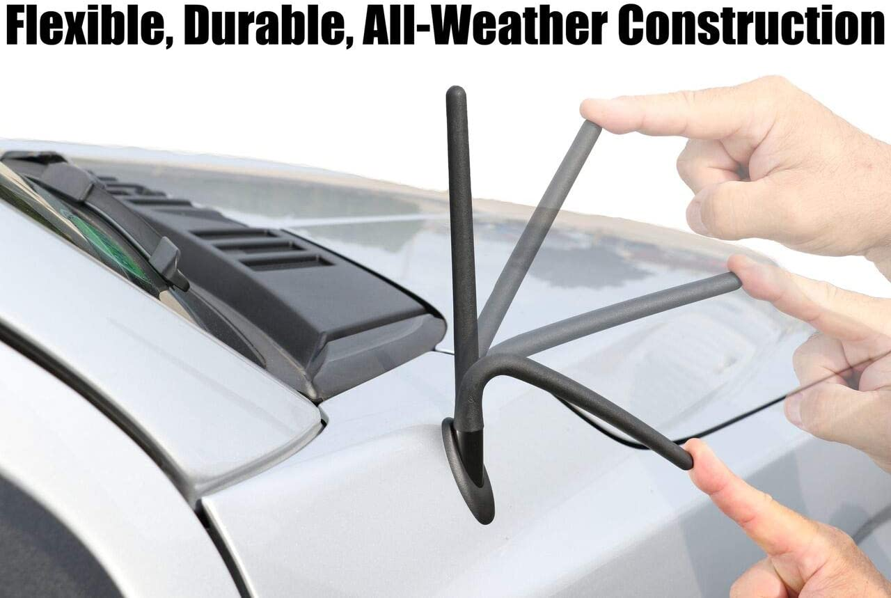 The Original 6 3//4 INCH is Compatible with Pontiac G6 Internal Copper Coil Reception Guaranteed - SHORT Rubber Antenna German Engineered 2006-2010 AntennaMastsRus