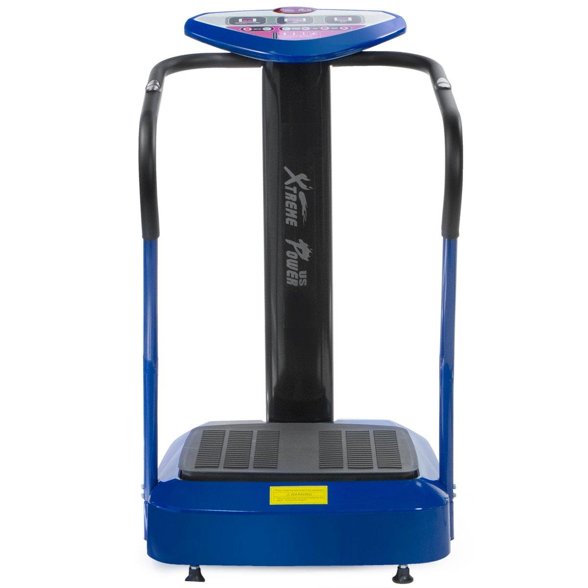 XtremepowerUS 2000W Slim Full Body Vibration Platform Exercise Crazy Fit Machine (Blue) by XtremepowerUS