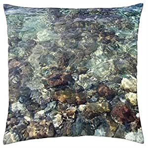 rocks and sea - Throw Pillow Cover Case (18