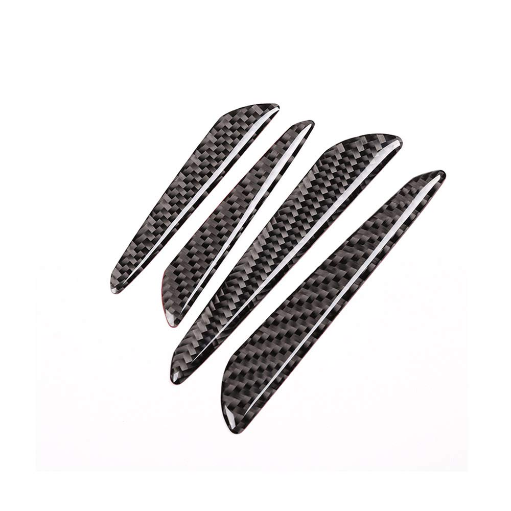 DIYUCAR Universal 4pcs Real Carbon Fiber Car Door Anti-collision Strip Trim For Landrover Sport LR4 LR5 RR Sport Vogue Evoque For Jag XE XF F-PACE