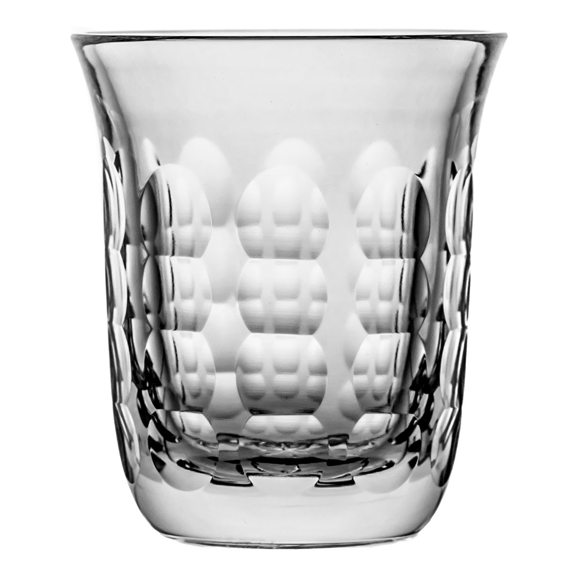 Pack of Aljulia 08833Water Glass, Crystal, 7x 9cm