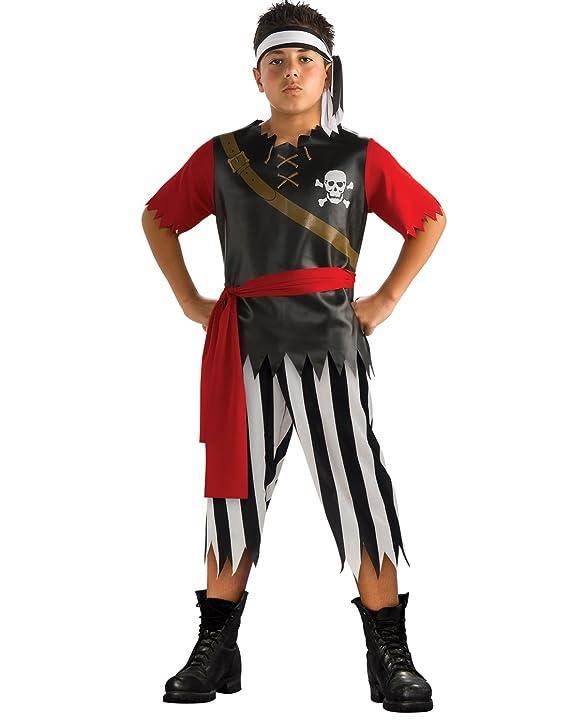 Amazon.com: Rubies Rey Pirata Buccaneer Costume, S, Rojo ...
