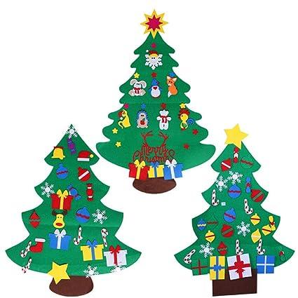 JFJL Set De 3 Árboles De Navidad De Fieltro para Niños, 120 Cm Árbol De
