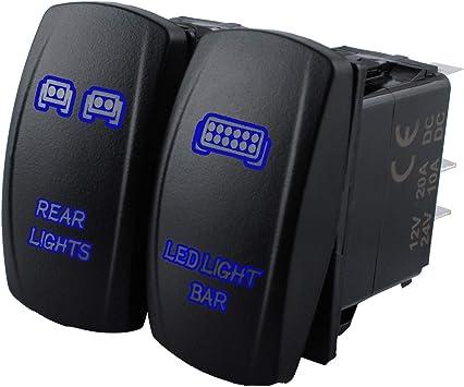 RED LED Light Bar Rocker Toggle On-Off Switch For UTV POLARIS RZR 4 XP 900 1000
