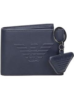 159f04662b9a Emporio Armani portefeuille homme deux plis blu  Amazon.fr ...