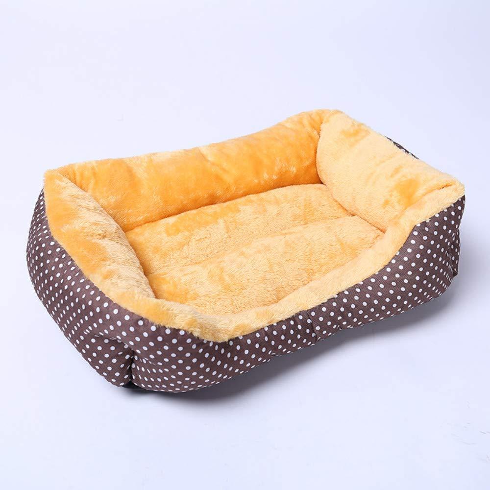 ultimi stili WALSITK colore Creativo DOT Cuccia Pet Dog Dog Dog Dog Dog Dog Mat Mat Stoffa Nido Marronee, 60x50x18cm  Sconto del 40%