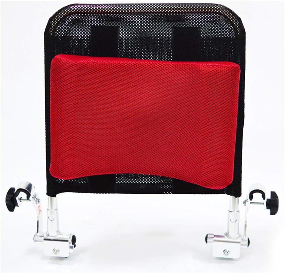 CANDYANA Reposacabezas de Silla de Ruedas Soporte para el Cuello Soporte para la Cabeza Accesorios de Silla de Ruedas de Viaje para Adultos portátiles Ajustables,Rojo