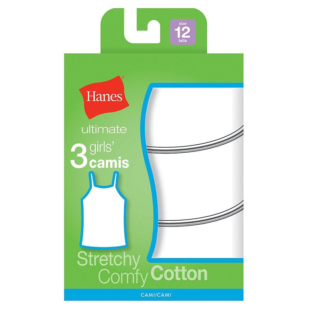 Hanes girls P3 Cotton Stretch Cami Hanes Girls 7-16 Underwear GURBCM