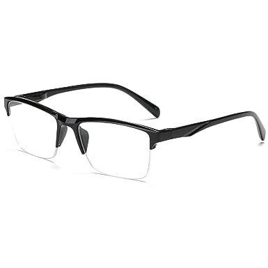 VEVESMUNDO Gafas de Lectura Medio Marco Hombre Mujer Moderno Grande Vista Leer Presbicia Graduadas Trabajo 0 0.25 0.5 0.75 1.0 1.25 1.5 1.75 2.0 2.25 ...