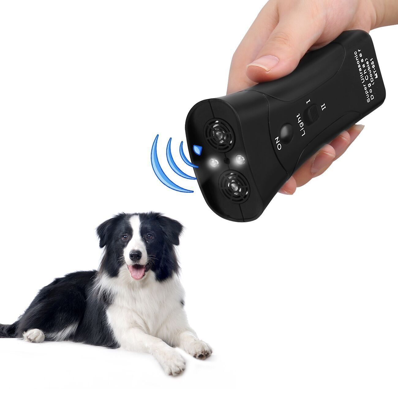 instecho Dog Repellent, Dr.fasting Portable Electronic Dog Trainer with Bright LED Flashlight, Waterproof Repellent for Dog