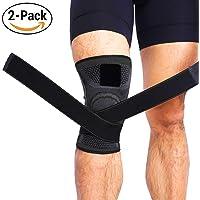 2PACK- Par de Rodilleras de Compresión Plus para Dolor de articulaciones, Promueve la Circulación y Rendimiento - Ideal para Correr, IR al Gym, Basquetball, y Actividades Deportivas - (Verde)