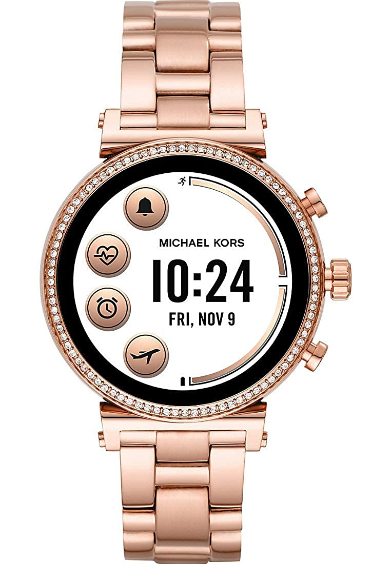 Amazon.com: Michael Kors MKT5063 Rose Gold Steel 316 L Woman ...