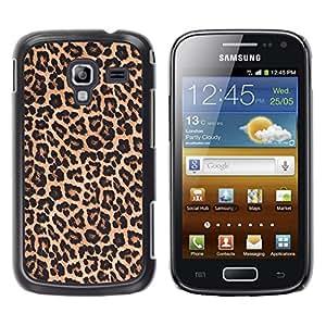 YOYOYO Smartphone Protección Defender Duro Negro Funda Imagen Diseño Carcasa Tapa Case Skin Cover Para Samsung Galaxy Ace 2 I8160 Ace II X S7560M - patrón de leopardo piel marrón de oro