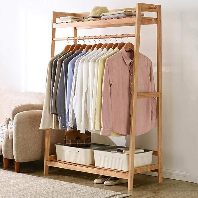 Amazon.com: Qing MEI Simple Coat Rack Solid Wood Hanger ...