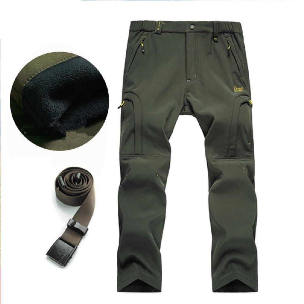 Hanxue Men's Convertible Winter Pants Waterproof Warm Pants