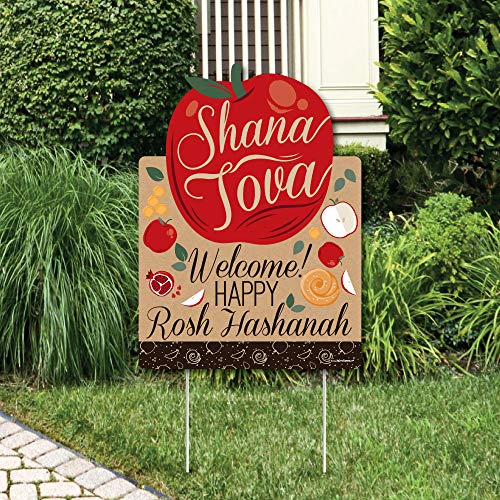 - Big Dot of Happiness Rosh Hashanah - Party Decorations - Jewish New Year Welcome Yard Sign