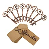 DerBlue 60 PCS Bottle Openers Wedding Favors Rustic Decoration with Escort Tag Card