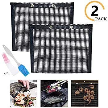 Non-Stick Mesh Grilling Bag Non-Stick Baking Grilling Bag BBQ Grill Mesh Baked Bag High Temperature Resistance Reusable Easy to Clean Outdoor Picnic Tool for Outdoor Picnic Cooking BBQ